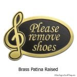 Remove Shoes Music Note - Brass