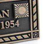 Bronze Dedication Plaque - Detail