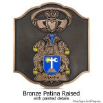 Claddagh Coat of Arms - Bronze with Paint