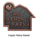 Farm and Silo Plaque - Copper