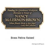 Proverb Welcome Plaque - Brass
