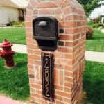 This is our new mailbox with the beautiful address sign!