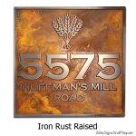 Wheat Shocks Address - Iron Rust
