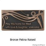 Swirls Welcome Plaque - Bronze