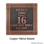 Traditional Historical Plaque - Copper