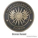 City Of Oakland Park FL Bronze Raised
