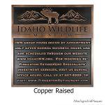 Idaho Wild Life Museum Copper Raised