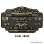 Rabbitville Brass Raised
