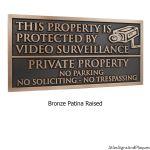 Under Video Surveillance Private Property