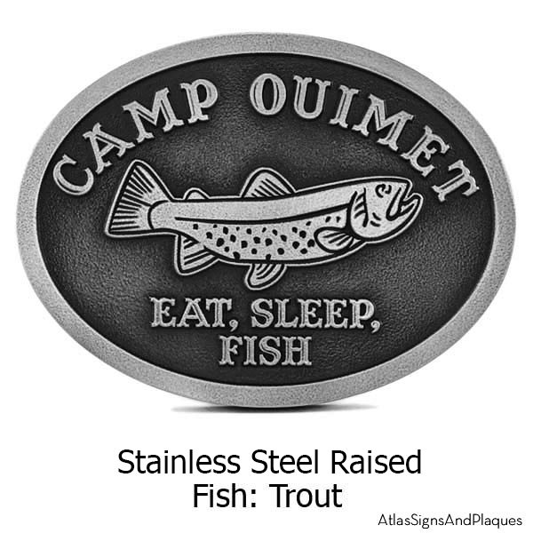 Stainless Steel Camp Crappie Plaque