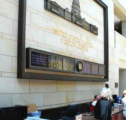 <em>Capitol Visitor Center Frame, Bronze Coated by Atlas Signs and Plaques (formerly Metal Facades)</em>