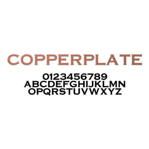 Copperplate Font Metal Letters & Numbers