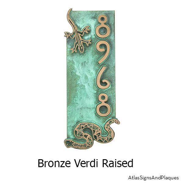 Desert Critters Address Sign in our Bronze Verdi finish