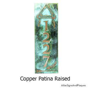 Dream Catcher Address Plaque, Copper Verdi