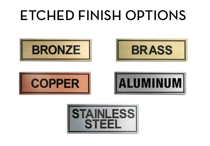 Standard Etched Metal