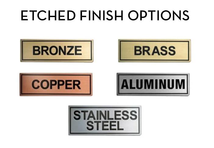 Standard Etched Metal