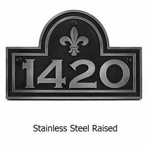 Fleur-de-Lis Arch Plaque Stainless Steel