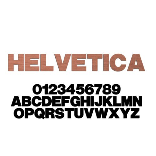 Helvetica Font Metal Letters & Numbers