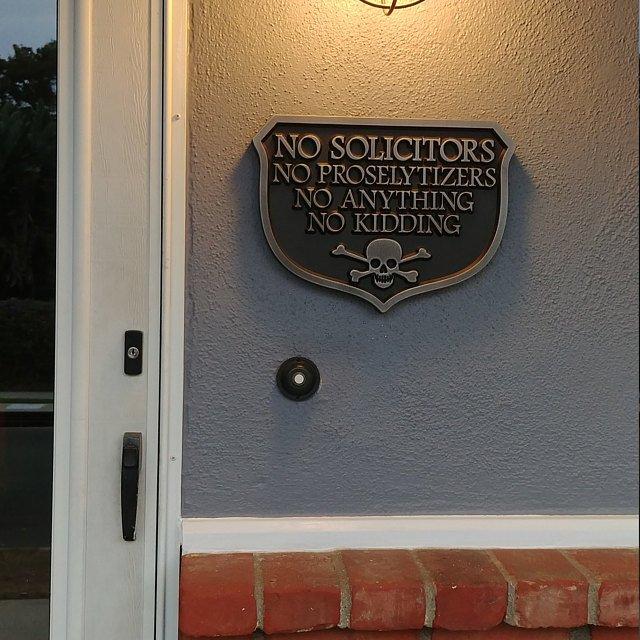 No Kidding Solicitors Sign