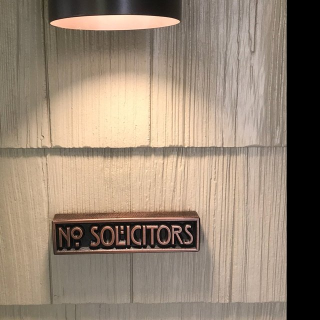 Stickley No Solicitors
