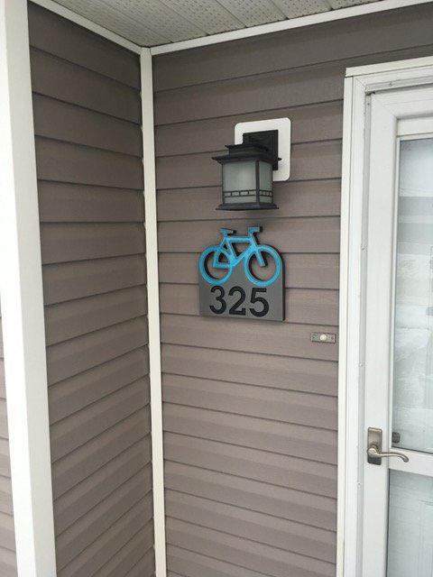 Bike Address Plaque