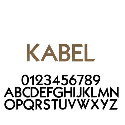 Kabel Font Metal Letters & Numbers