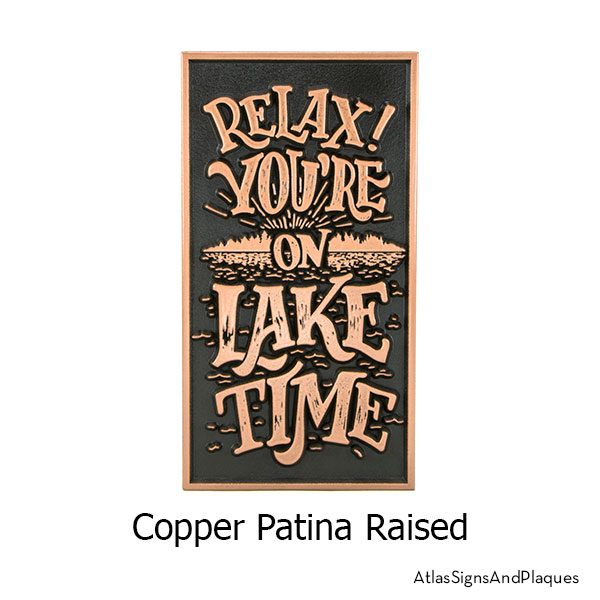 Lake Time Sign shown in our Copper finish