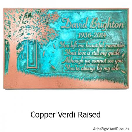 Tree Swing Sign - Copper Verdi