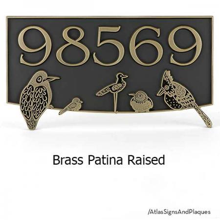 Birds Block Party shown in Brass