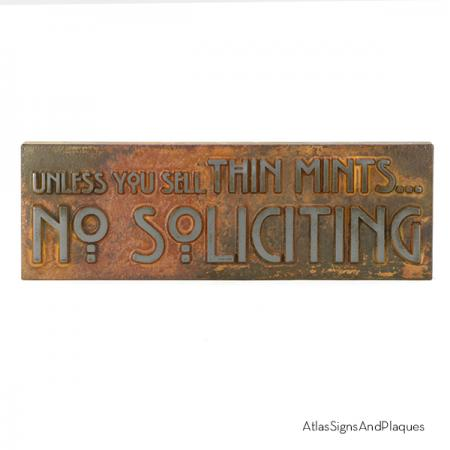 Unless You Sell Thin Mints Iron Rust Raised