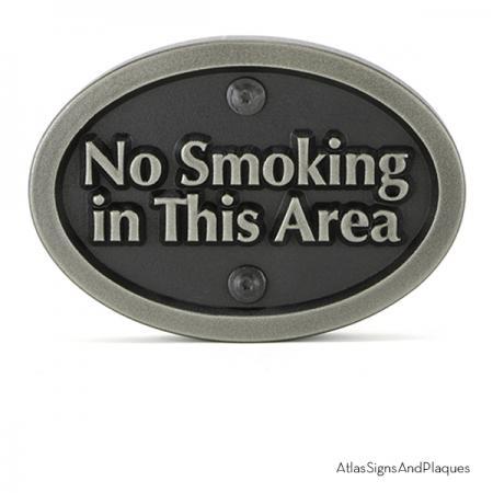 No Smoking In This Area Silver Nickel Raised