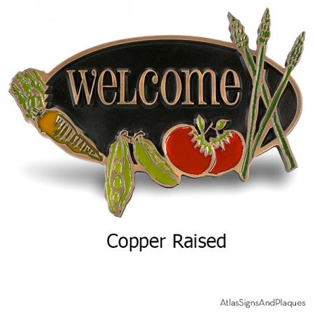 Vegetable Garden Welcome Plaque