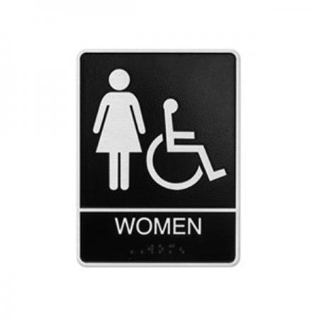 Accessible Women Restroom Sign