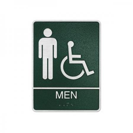 Accessible Men Restroom Sign