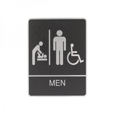 Restroom Sign men with Changing Table