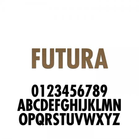 Futura Condensed Font Metal Letters & Numbers