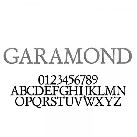 Garamond Font Metal Letters & Numbers