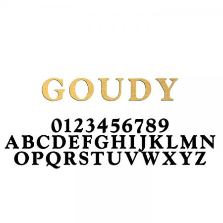 Goudy Font Metal Letters & Numbers