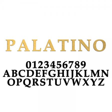Palatino Font Metal Letters & Numbers