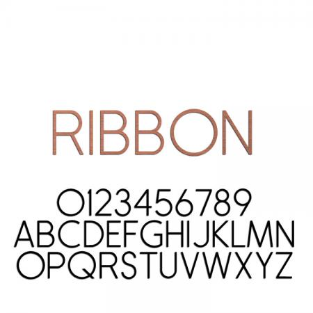 Ribbon Font Metal Letters & Numbers
