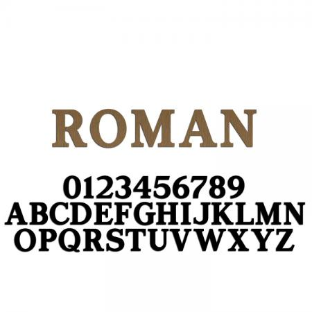 Roman Font Metal Letters & Numbers