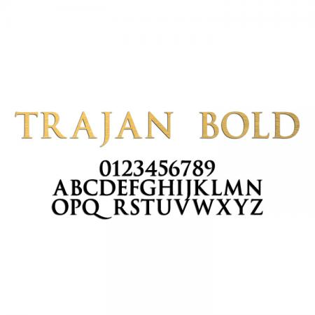 Trajan Bold Font Metal Letters & Numbers