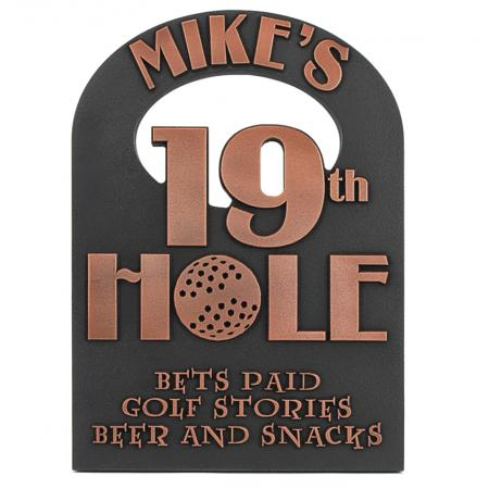 19th Hole Golf Sign - Copper