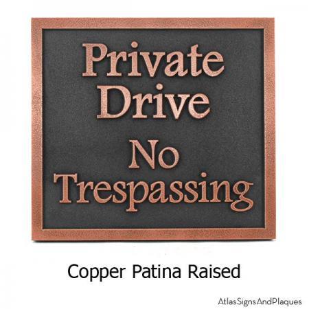 Private Drive Plaque - Copper