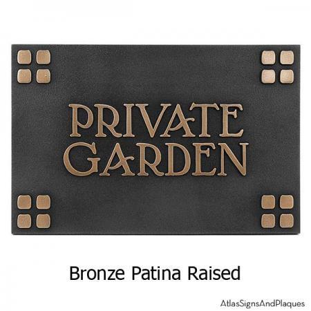 Arts and Crafts Era Plaque - Bronze