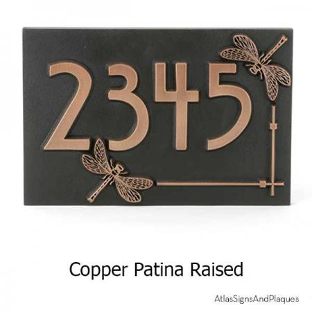 Dragonfly House Number Sign