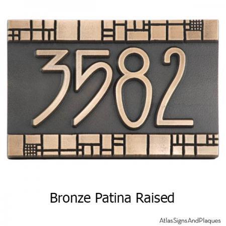 The Batchelder Tile Address Plaque - Bronze