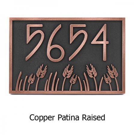 Wheat Field Address Plaque - Copper