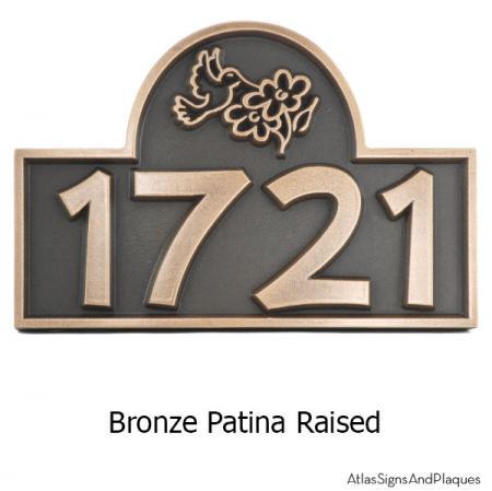 Hummingbird Address Plaque - Bronze