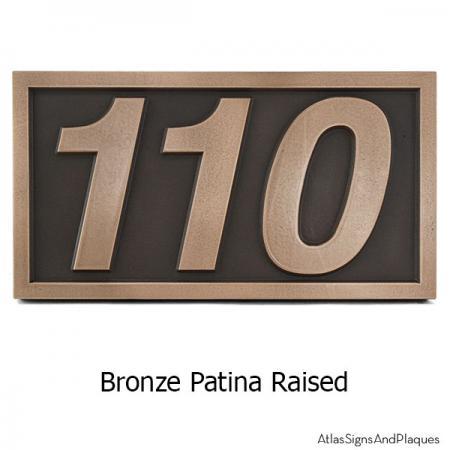 Helvetica Address Numbers - Bronze